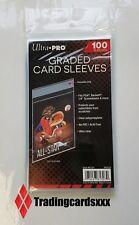 ♦Pokémon/Yu-Gi-Oh!♦ 100 Pochettes Ultra PRO Graded Card Sleeves PSA Beckett PCA