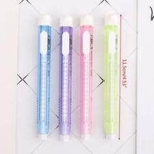 Mechanical Pen Shape Eraser Rubber Retractable Stationery School Supplies