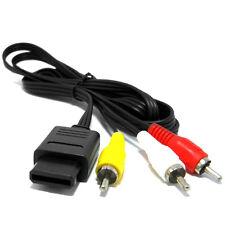 AV RCA Audio Video Tv Via Cavo Lead per SNES Super Nintendo n64 64 GAMECUBE CONSOLE