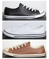 Neu All Star Converse Chucks Low Leinen + Leder Damen
