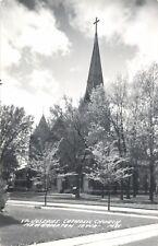 A View Of St Joseph's Catholic Church, New Hampton, Iowa IA RPPC