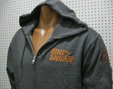 nwt HARLEY DAVIDSON *Hazy Days* Embroidered Full Zip Hoodie Sweatshirt