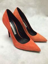 Gianmarco Lorenzi Suede Coralallo Orange Heels. P4D0A1101. RRP £275. Size 38.