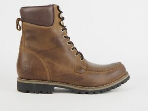 Mens Timberland EK 7 Inch Moc Toe 74130 Brown Leather Lace Up Waterproof Boots