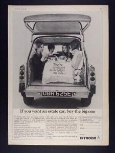 1967 Citroen Safari 21 Estate Wagon vintage print Ad