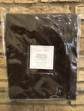"Restoration Hardware Diamond Matelassé Shower Curtain 72""× 72"" Chocolate brown"
