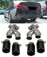 4 x Sport Auspuff Endrohre Blenden Black Chrome für BMW G30 G31 nur für 540i