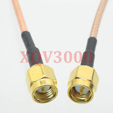 3pcs Rg316 6inch Rf pigtail Sma male plug pin to Sma male straight Cable jumper