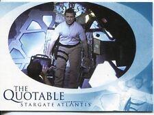 Stargate Atlantis Season 1 The Quotable Chase Card Q20