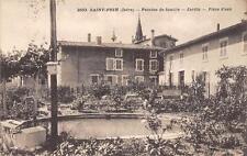 CPA 38 SAINT PRIM PENSION DE FAMILLE JARDIN