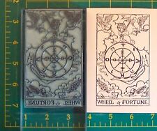 Um Tarot Card rubber stamp #10 Wheel of Fortune full size
