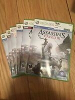 ASSASSIN'S CREED III - XBOX 360 - COMPLETE W/MANUAL - FREE S/H (T)