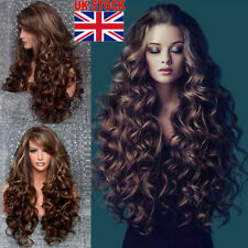 Women's Fashion Wavy Curly Long Hair Full Wigs Cosplay Party Wig 70cm Hot