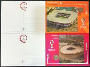 NEW OFFICIAL FIFA QATAR 2022 STADIUMS POST-CARDS (MNH) - AMAZING!