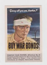ORIGINAL WW II PATRIOTIC WAR BOND POSTER STAMP
