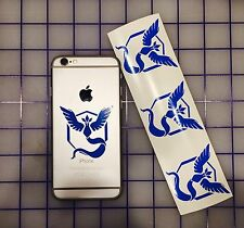 4x Pokemon Go Team Mystic Symbol cell phone Laptop Vinyl Decal Sticker GPS