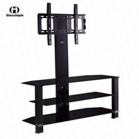 Adjustable Tempered Glass Entertainment Center TV Stand Video X-BOX/PS4 Holder