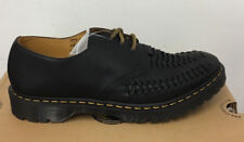 DR. MARTENS EZRA BLACK AGED GREASY  LEATHER  SHOES SIZE UK 12