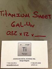 """TITANIUM SHEET 6AL-4V .032"""" x 24"""" x 36"""""""