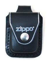 Zippo lplbk black leather lighter pouch loop, New in Box