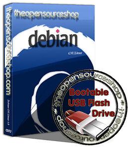 Debian Linux 9.0.1 (Stretch) 128GB USB 3.0 Live Bootable Startup Flash Drive
