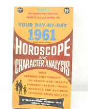 Your Day By Day 1961 Horoscope and Character Analysis Aries Birthdays (1961) PB