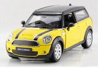 MINI CLUBMAN 1:24 Scale Metal Diecast Toy Car Model Miniature Yellow