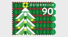 Oostenrijk 2018  kerstboom    rolzegel !!  luxe postfris/mnh