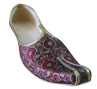 Traditional Indian Men Shoes Mojari Handmade Loafers Jutti UK 5.5-7.5 EU 39-41