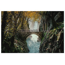 Rivendell Lord of The Rings Painting Lotr Wall Art Print Framed Canvas Tolkien