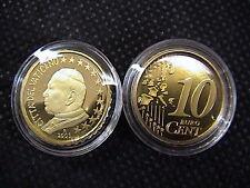 VATICANO 2003 n° 1 moneta da CENT 10 EUROCENT FONDO A SPECCHIO PROOF FS PP BE