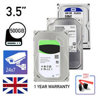 "INTERNAL HDD HARD DRIVE 500GB 3.5"" 5400 - 7200 RPM CCTV PC DESKTOP OPTIMIZED UK"