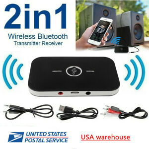 Bluetooth V5.0 Transmitter & Receiver Wireless Adapter For Home Stereos Speakers