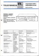 Service Manual-Anleitung für Telefunken Magnetophon STC 1,CC 20