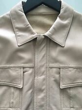Balenciaga Mens Tan Leather Buttoned Front Collar Jacket Size 50 L $3695 Retail