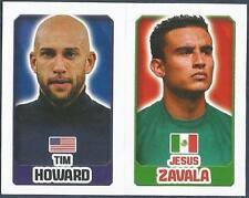 TOPPS ENGLAND 2014- #063-332-MEXICO-JESUS ZAVALA-UNITED STATES-TIM HOWARD