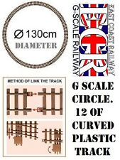G SCALE RAILWAY RAIL 45mm GAUGE CIRCLE OF TRACK ROLLING STOCK, COACH TRAIN SET