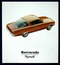 Prospectus brochure 1965 Plymouth Barracuda (USA) NOS