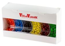 VitaVault Daily Pill and Vitamin Dispenser Organizer with 6 Large Compartments