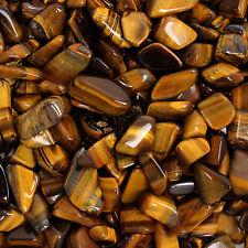 Chakra Stone Charm Gold Tiger's Eye Reiki Healing Gift Gemstone Small x10