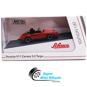 Schuco - 1:87 HO Scale - Porsche 911 Carrera 3.2 Targa (Red) - Diecast Model