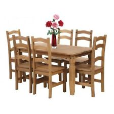 Living Room Wood Up to 6 Rectangular Table & Chair Sets