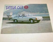 Prospekt / Broschüre PKW Tatra 613-2