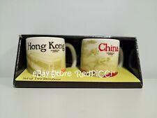 Starbucks CHINA HONG KONG Demitasse Mini Mug - Set of 2