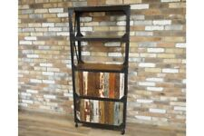 Reclaimed Bookcase Storage Tall Display Unit - Solid Wood - Industrial Cabinet