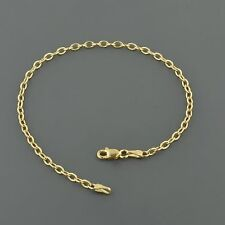 """10K YELLOW GOLD 2.5MM WIDE CUTE OVAL LINK 7"""" INCH BRACELET FREE SHIPPING"""