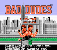 Bad Dudes - 2 Player Fun NES Nintendo Game