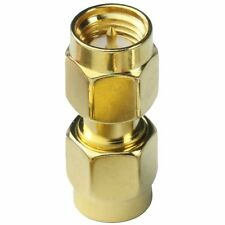SMA male plug to SMA male plug straight connector - UK Seller