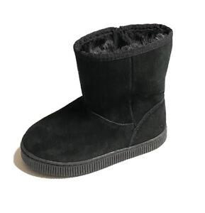 Cat & Jack Toddler Girls Noelia Style Black Faux Fur Side Zip Boots Size 10