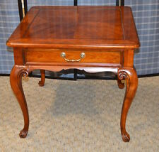 Drexel Heritage Queen Anne Style Cherry Accent Table w/Drawer